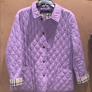 AUTHENTIC LAVENDER BURBERRY JACKET- LIKE NEW RARE